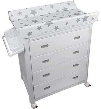 Mueble cómoda con bañera para bebé Plastimyr